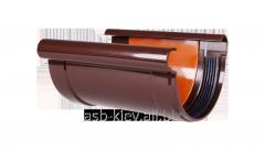 Соединитель желоба Profil 130 мм коричневый