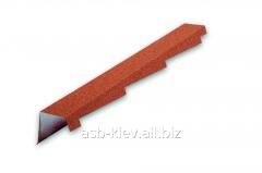 Торцевая планка левая Metrotile 1355*185 мм красная