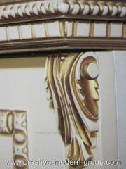 Резные элементы декора из массива дерева от