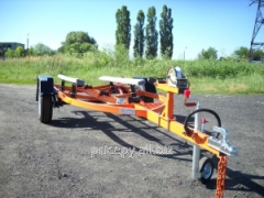 The trailer for transportation of a hydrocycle 420
