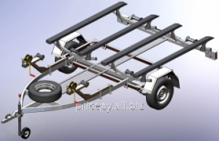 The trailer for transportation of two hydrocycles