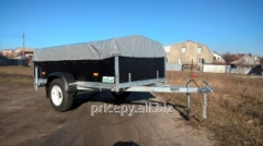 The trailer 2,8*1,4 is plywood