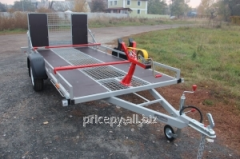 The trailer for transportation of a snowmobile