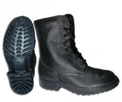 Взуття на поліуретановій підошві (ПУП): юхтові, кирзові. ЧОБОТИ, Черевики ОМОН