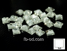 Stones pastes glue 5х5 white-upak 100 pieces