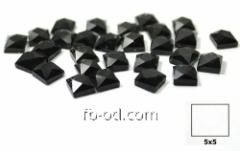 Stones pastes glue 5х5 black-upak 100 pieces