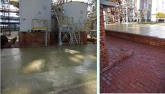 Anticorrosive protection of concrete against acid