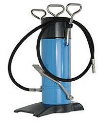 Figurative lubricant station with the pedal drive,