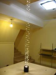 Decor for the house. Light columns from crystal