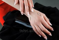 Bracelet on a palm (silver)