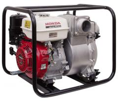 Pumps for the polluted liquids. A motor-pump for