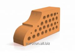 Кирпич фасонный ВФ - 10 лицевой персиковый
