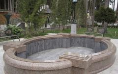 Fountains made of  granite and marble