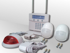 The security alarm system for local objects:
