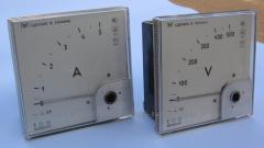 Ampermeters, MA0201/1U, EV0201/1U voltmeters post