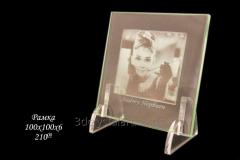 Frame from usual glass of 100х100х6 mm for the 2D