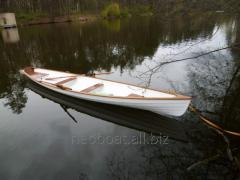 Boat wooden rowing (oar)