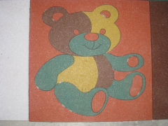 "Rubber tile with the image of TM ""Ukrplit-Art"