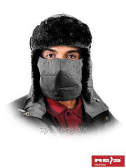 Cap with ear-flaps with protection for the person