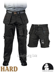 Trousers and shorts workers protective 2 in 1