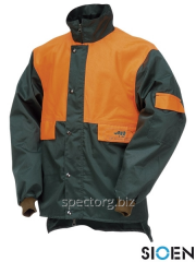 Jacket for forest works without protection of