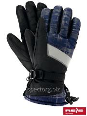 Ski gloves fleece SKIFLECTIVE
