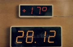 Электронное табло часы термометр
