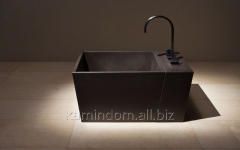 Bathtub for legs square with a prefix for the