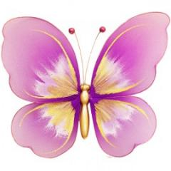Украшение для штор Бабочка Малая -120*140 модель  A0005