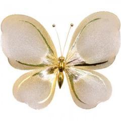 Украшение для штор Бабочка Средняя -150*180  Гальваника модель  AG0004