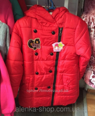 Детская утепленная куртка на девочку 7-10 лет.