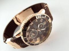 Мужские часы в стиле Nardin на коричневом