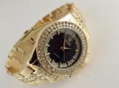 Женские часы ROLEX - циферблат черный, цвет