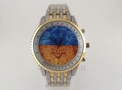Часы мужские с Гербом Украины цвет серебро с