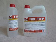 Огнебиозащита для дерева.FIRE STOP средство для