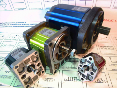 The hydraulic pump is gear, lamellar, axial and