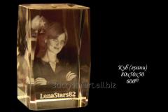 Cube from optical glass of 80х50х50 mm (side) for