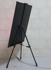 Tripod, easel, support, support for a led-board,