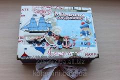 Шкатулка ручной работы Морское приключение Мамина