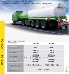 The NCP-36 semi-trailer tank for transportation of