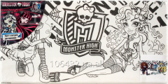 Canvas with a contour 15kh30sm Monster High