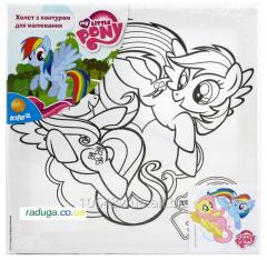 Canvas with a contour 25kh25sm My Little Pony