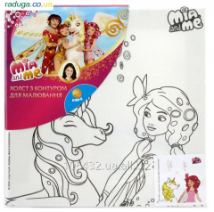 Canvas with a contour of Mia&Me MM15-216K