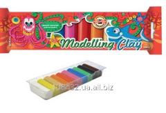 Plasticine 10 of colors 200gr in polyethylene