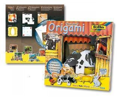 Paper set for origami gift Animals on a farm 91101