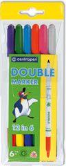Bilateral felt-tip pens of 3640 Double 12 in 6