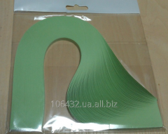 Paper for a kvilling green pastel, the size 5