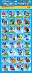 Cards on magnets the Alphabet ukr.russuy yangl