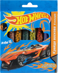 Wax crayons Jumbo 8tsv Hot Wheels, TM Kite 25709