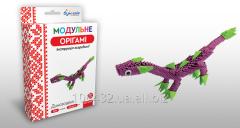 Set for creativity of ZD of origami Dinozavrik